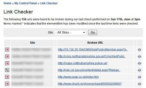 When did you last check your site for broken links ?